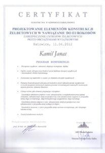 Certyfikat Szkolenia